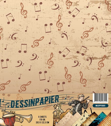 Yvonne Creations - Dessinpapier - Music Series - MUSPP10001