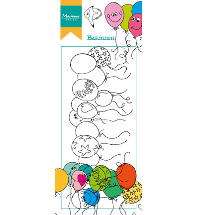 Marianne Design - Hetty Meeuwsen - Clearstamp - Hetty`s border-balloons - HT1605