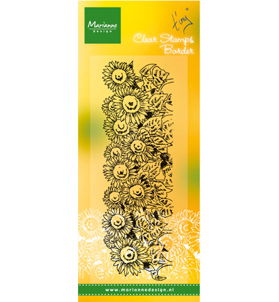 Marianne Design - Tiny`s - Clearstamp - Border-sunflower - TC0836