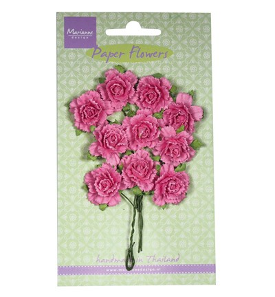 Marianne Design - Paper flowers: Bright pink - RB2258