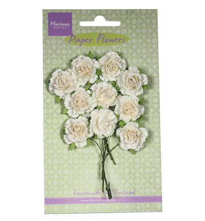 Marianne Design - Paper flowers: White - RB2256
