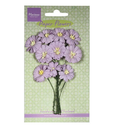 Marianne Design - Paper flowers - Daisies: Light lavender - RB2254