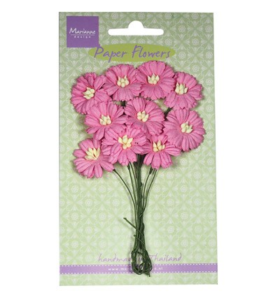 Marianne Design - Paper flowers - Daisies: Bright pink - RB2252
