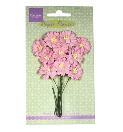 Marianne Design - Paper flowers - Daisies: Light pink - RB2251