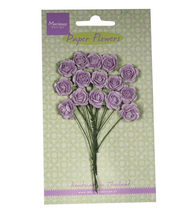 Marianne Design - Paper flowers - Roses: Light lavender - RB2248