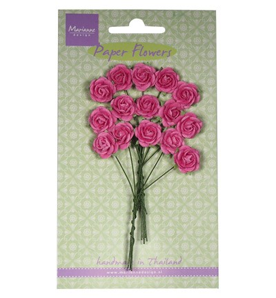 Marianne Design - Paper flowers - Rose: Bright pink - RB2246