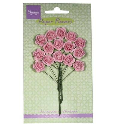 Marianne Design - Paper flowers - Rose: Light pink - RB2245