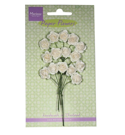 Marianne Design - Paper flowers - Roses: White - RB2244