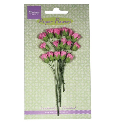 Marianne Design - Paper flowers - Roses bud: Bright pink - RB2240