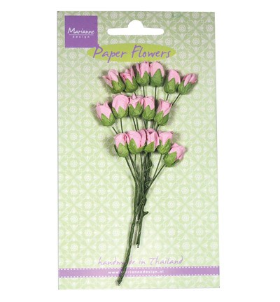 Marianne Design - Paper flowers - Roses bud: Light pink - RB2239