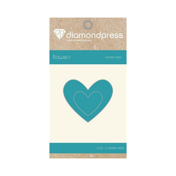 Diamond Press - Die - Nested Heart