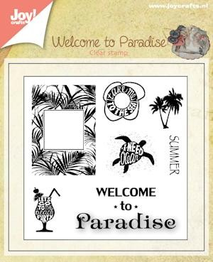 Joy! crafts - Clearstamp - Welcome to paradise  - 6410/0398