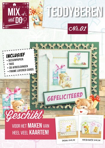 Card Deco - Hobbyboeken - Mix and Do - Beren - MXDO01