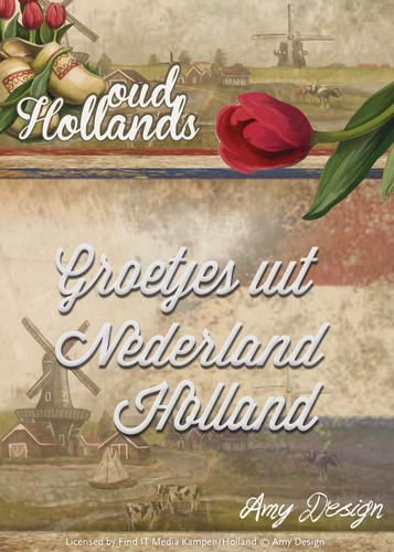 Card Deco - Amy Design - Die - Oud-Hollands - Groetjes uit Nederland Holland