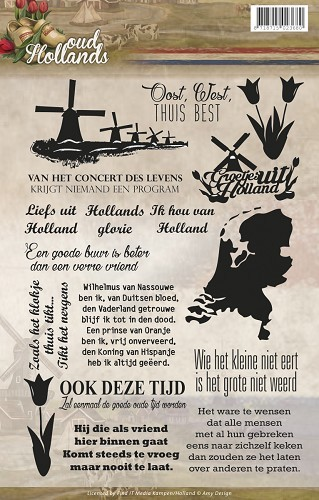 Amy Design - Clearstamp - Oud-Hollands - Tekst - ADCS10006