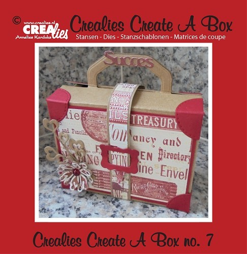 Crealies - Die - Create-A-Box - Koffertje - CCAB07