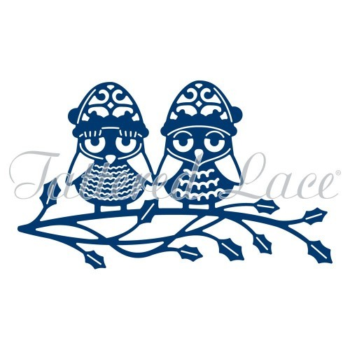 Tattered Lace - Die - Christmas Owls