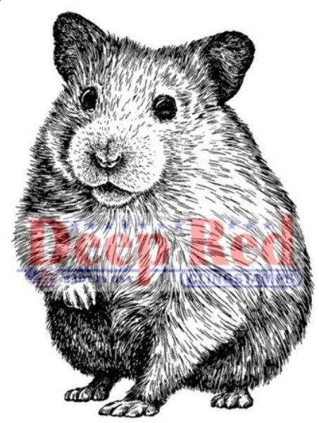 Deep Red - Cling Stamp - Hamster - 3X405508