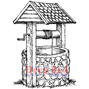 Deep Red - Cling Stamp - Wishing Well - 3X505522