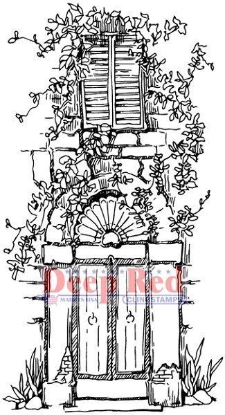 Deep Red - Cling Stamp - Vined Entry - 4X505540