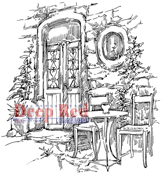Deep Red - Cling Stamp - Dining Alfresco - 4X505526