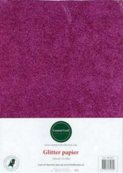 Central Craft Collection - Glitterpapier: Fuchsia - 280-005