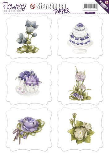 Precious Marieke - (3D-)Stansvel A4 - Flowery Collection - SB10104