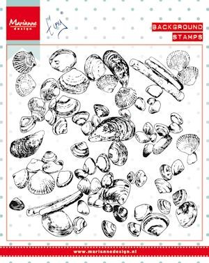 Marianne Design - Clearstamp - Tiny`s background sea shells - CS0970