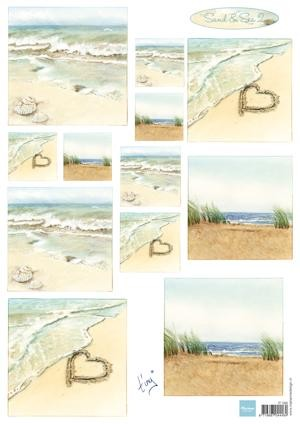 Marianne Design - Tiny`s - 3D-knipvel A4 - Tiny`s Sand & Sea 2
