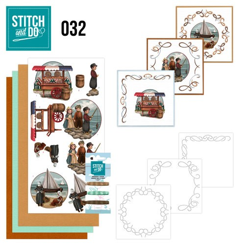 Card Deco - Kaartenpakket - Stitch & Do No. 32 - Oud Hollands - STDO032