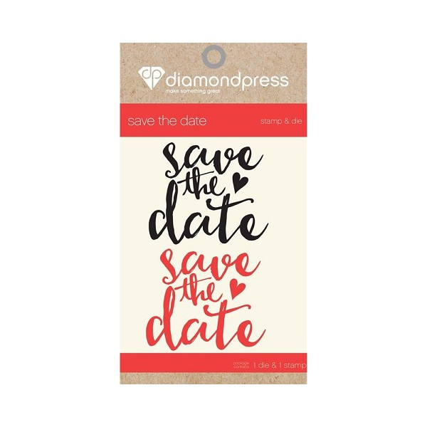 Diamond Press - Stamp and Die set - Save the date