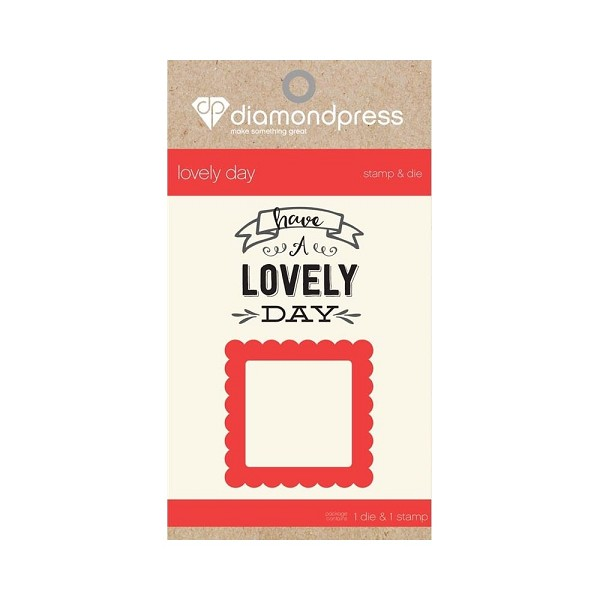 Diamond Press - Stamp and Die set - Lovely day