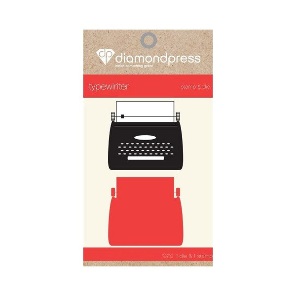 Diamond Press - Stamp and Die set - Typewriter