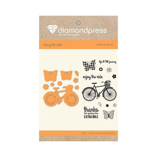 Diamond Press - Stamp and Die set - Enjoy the ride