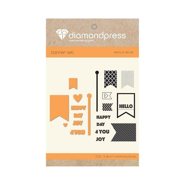 Diamond Press - Stamp and Die set - Happy day for you