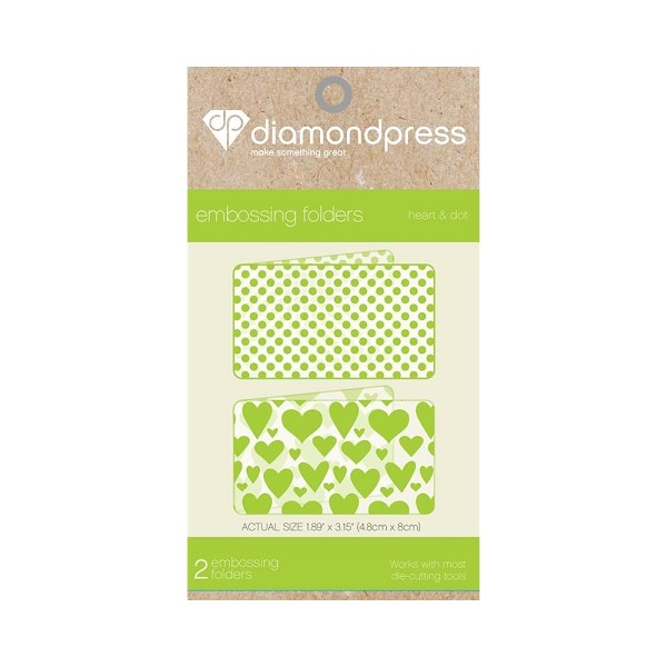 Diamond Press - Embossingfolder - Heart & Dot - DP1101