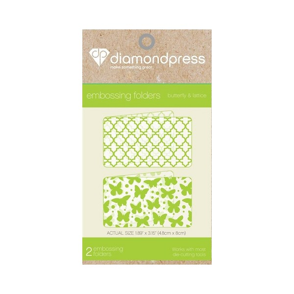 Diamond Press - Embossingfolder - Butterfly & lattice - DP1102