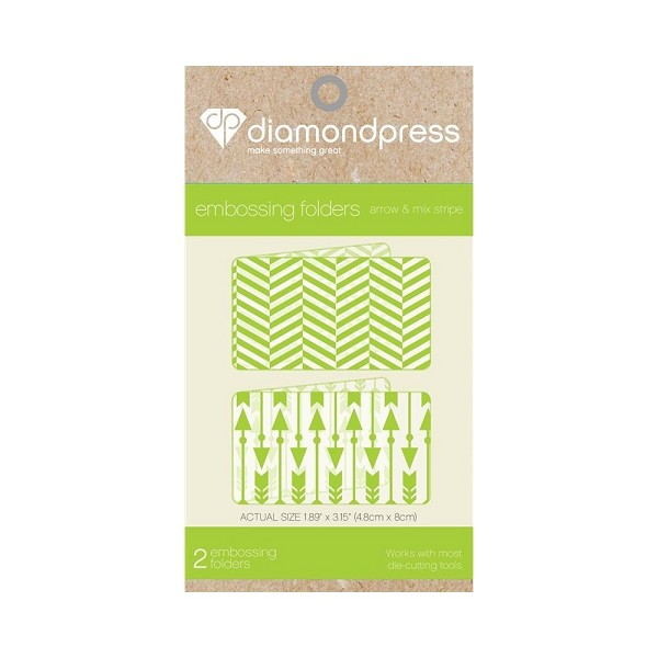 Diamond Press - Embossingfolder - Arrow & mix stripe - DP1103