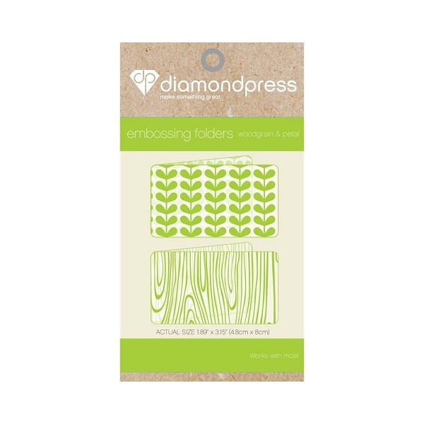 Diamond Press - Embossingfolder - Woodgrain & Petal - DP1104