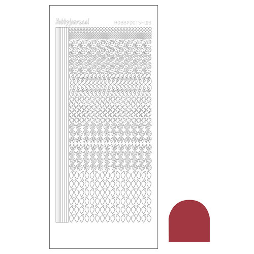 Hobbyjournaal - Stickervel - Hobbydots - Serie 19 - Mirror: Christmas Red - STDM19H
