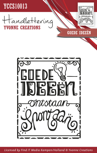 Yvonne Creations - Clearstamp - Handlettering - Goede ideen - YCCS10013