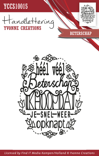 Yvonne Creations - Clearstamp - Handlettering - Beterschap - YCCS10015
