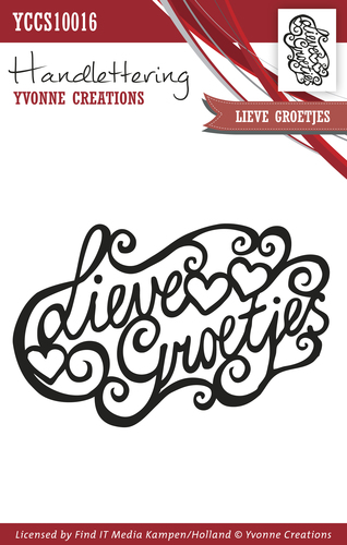 Yvonne Creations - Clearstamp - Handlettering - Lieve groetjes - YCCS10016