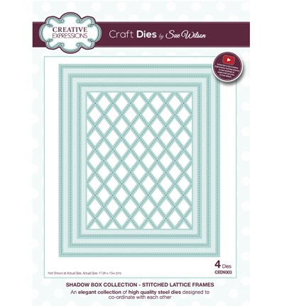 Creative Expressions - Die - The Shadow Box Collection - Stitched Lattice Frames