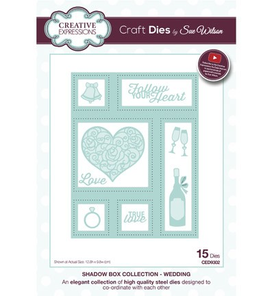 Creative Expressions - Die - The Shadow Box Collection - Wedding