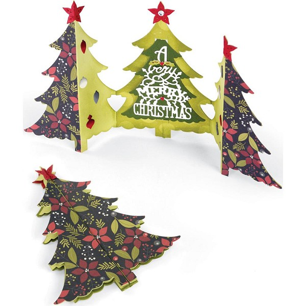Sizzix - Die - Thinlits - Fold-a-long - Christmas Tree