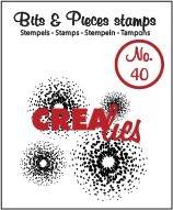 Crealies - Clearstamp - Bits & Pieces - No. 40 - CLBP40