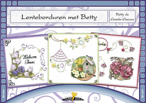 Card Deco - Hobbydols - No. 170 - Lenteborduren met Betty