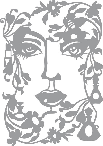 Pronty - Maskingstencil - Face Lady - 470.802.039