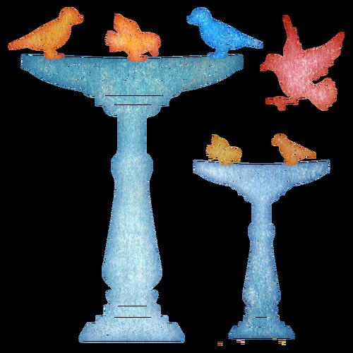 Cheery Lynn Design - Die - Bird Bath - B438